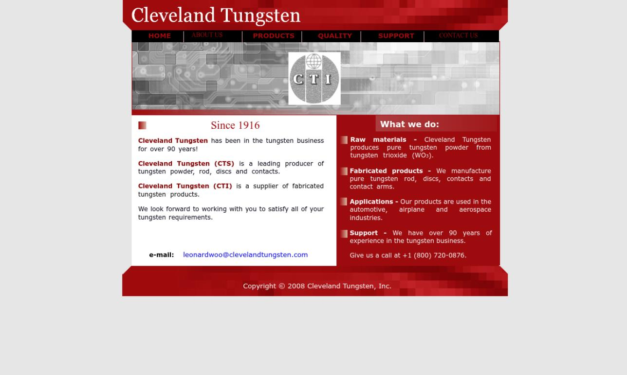 Cleveland Tungsten, Inc.