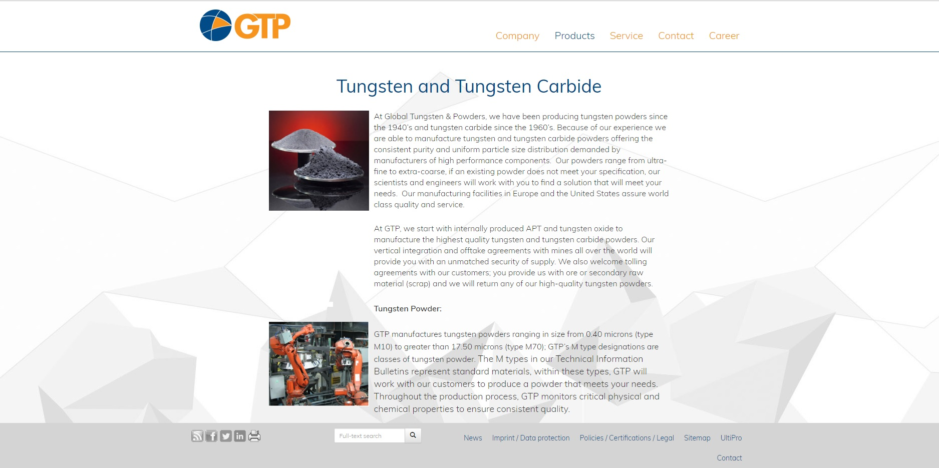 Global Tungsten & Powders