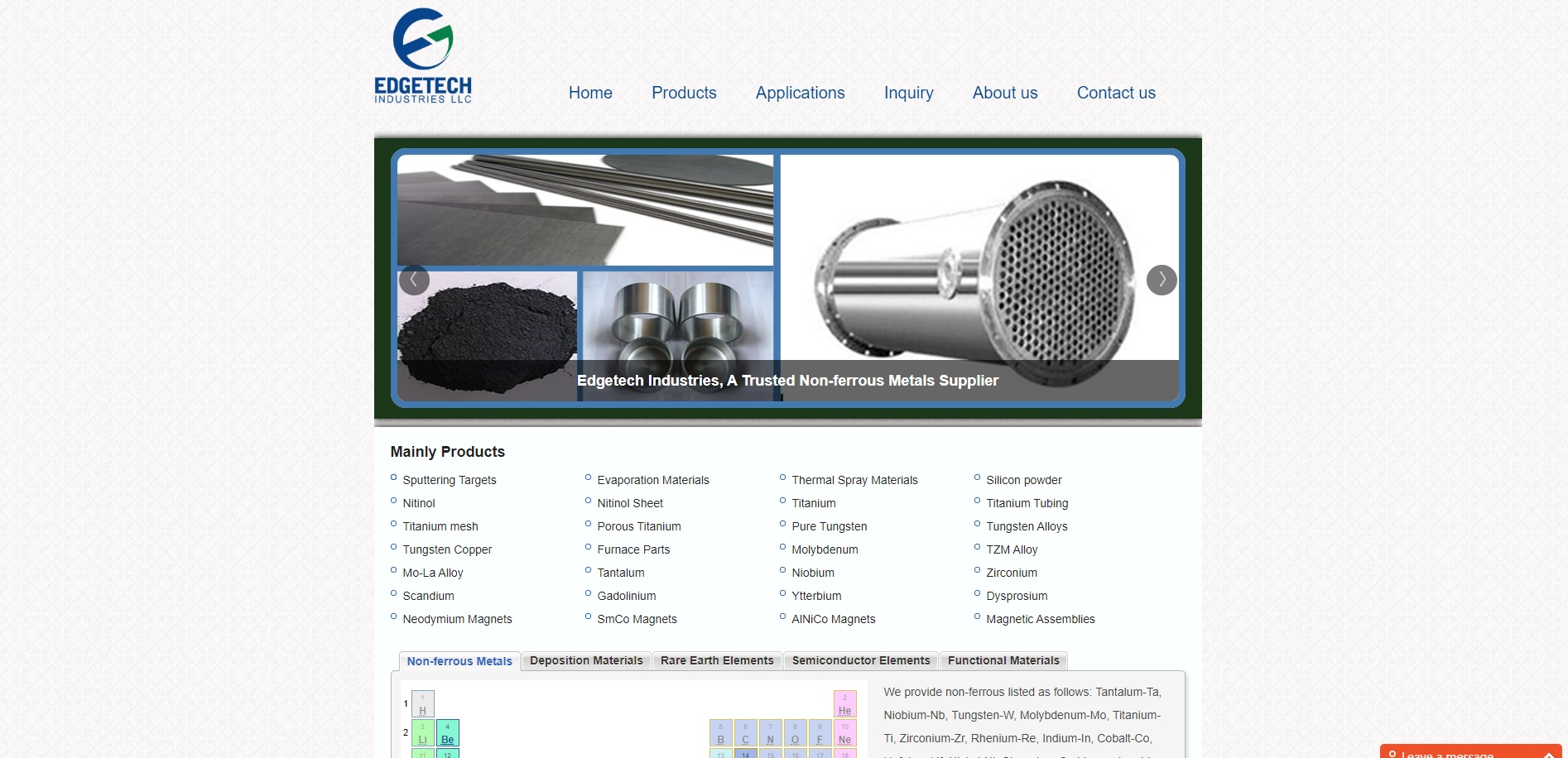 Edgetech Industries LLC